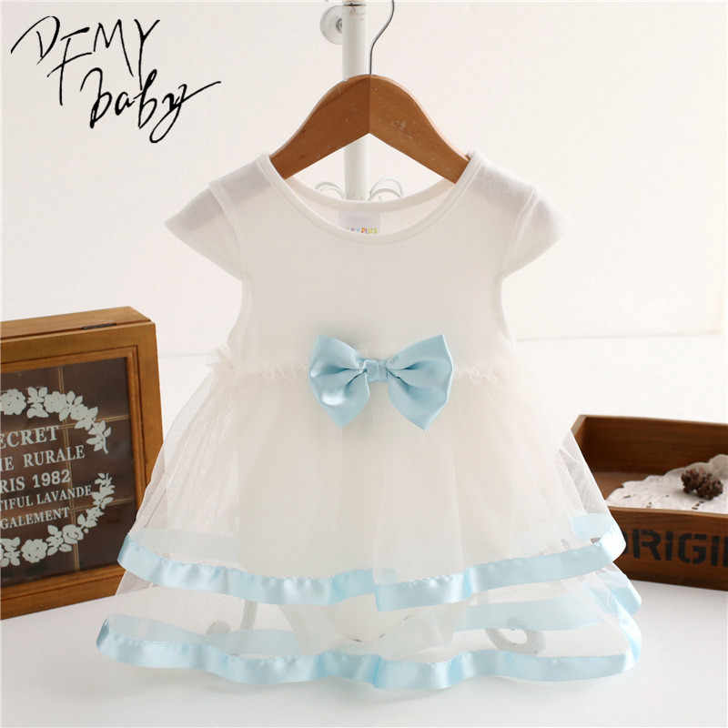 4ee313b58b6 ... NewBorn Baby Dress Summer Cotton Bow Baby Rompers For girls Summer Kids  Infant Clothes Baby Girls ...