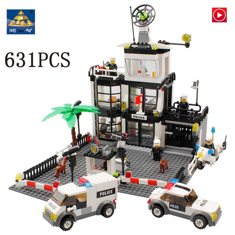 Legoed city LepinS 6725 chiffres de commissariat de Police blocs de construction de bureau de Police briques jouets de manière léchante kits cadeaux pour enfants