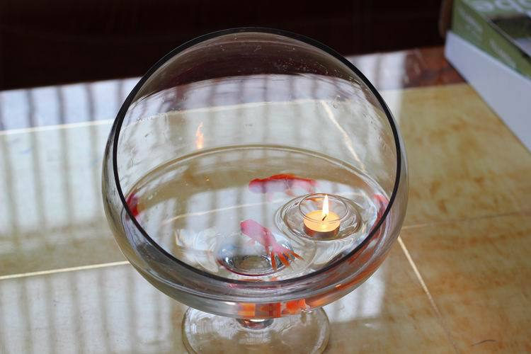 Wholesale Floating Glass Bowl Candle Holders Wishing Pool Christmas Decoration Candlestick x 50
