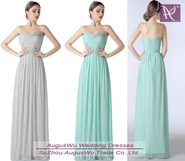 Cheap Bridesmaid Dresses Under 50 Long Mint Green Or Silver ...