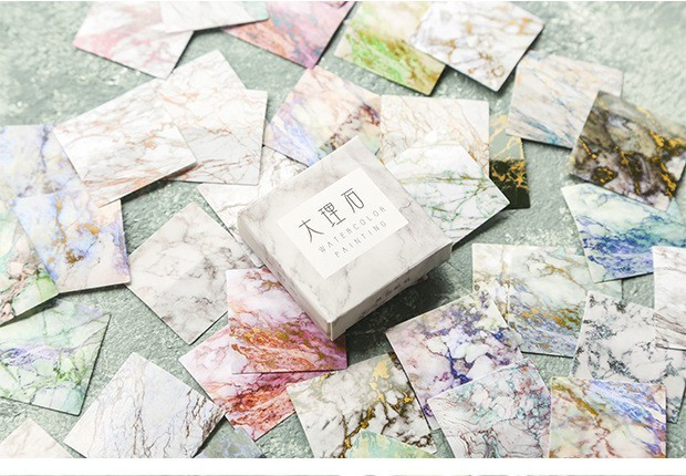 40PCS-box-Color-Cute-Marble-Paper-Sticker-Decoration-Decal-DIY-Album-Scrapbooking-Seal-Sticker-Stationery-Gift(6)