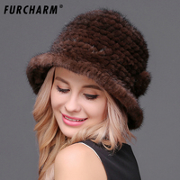 100% Real Mink Fur Women's Fedora Hat for Laday Wide Brim Jazz Church Cap Vintage Panama Sun Top Hat Natural Mink Hat for Girls