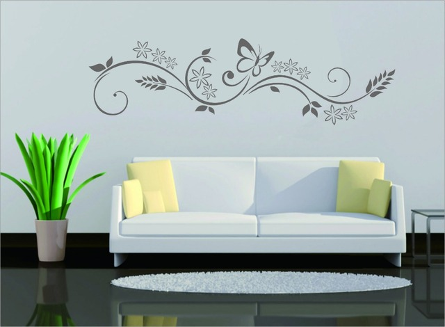 30085cm new beautiful flower wall sticker home decor wallpaper islamic muslim decal art im59