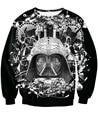 Moda legal Darth Vader de Star Wars B & W Crewneck Camisola 3D suores Sexy Primavera Outono Inverno Jumper Bordado top Para As Mulheres homens