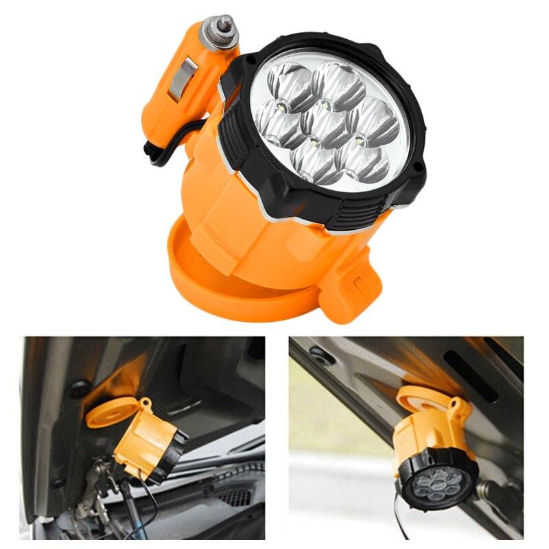 Universal Car 12V 7 Lamps LED Magnet Car Emergency Lights Lighter Magnetic Auto Car Repair Work Light LD002