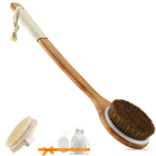 Dry Skin body Brush Exfoliate Improve Circulation &Cellulite Tools natural bristle Wooden SPA Woman SkinCare Body