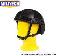 Militech черный BK супер высокий вырез люкс морской NIJ уровень IIIA Быстрый арамидный пуленепробиваемый баллистический шлем DEVGRU CAG