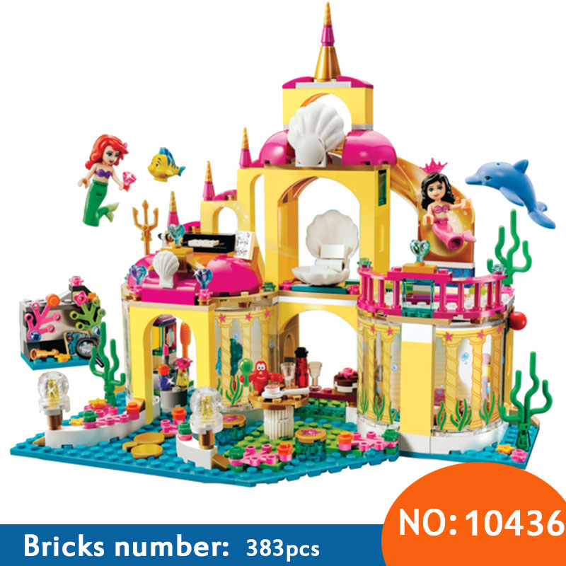 AIBOULLY 10436 Princess Undersea Palace Model Building Kits minis Blocks Bricks Girl Toy Gift Compatible With Friends 41063 2017 new aiboully 10170 friends series girls housework time panorama minis set building blocks girl toys compatible with 3185