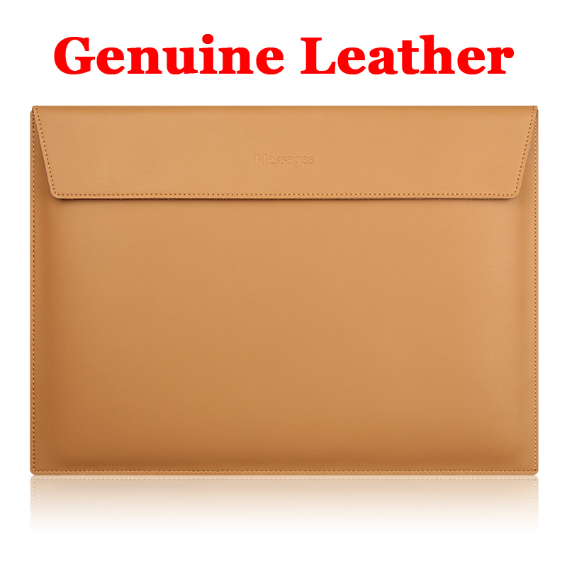 Genuine Leather Laptop Sleeve Air 11 Computer Bag Notebook Bag For Pro retinal 13 15 MacBook 12 inch Case Portable Laptop Bags pokoko brand notebook laptop sleeve bag case for apple macbook air 13 pro 13 3 inch retina portable handbag laptop bag