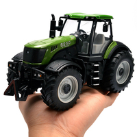 Agricultural tractor Metal Alloy Sound Yellow Exquisite Collection Baby Toys Car Styling Tractor Model 1:30 Truck Model Gifts