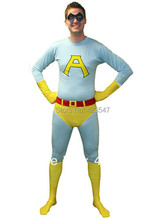 Lake Blue And Yellow Saturday Night Live Ace Spandex Superhero Costume Party Halloween carnival costumes