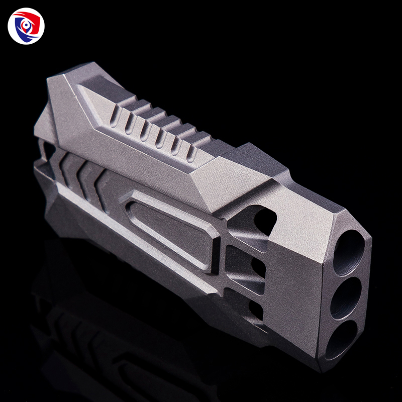 Outdoor camping three tubes TC4 titanium alloy survival whistle high frequency sonic boom whistle limited edition