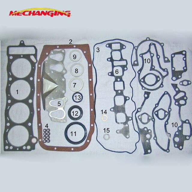 22r 22re 22r rb20 for toyota hilux engine rebuilding kits full set  automotive spare parts engine gasket 04111-35342 50099300