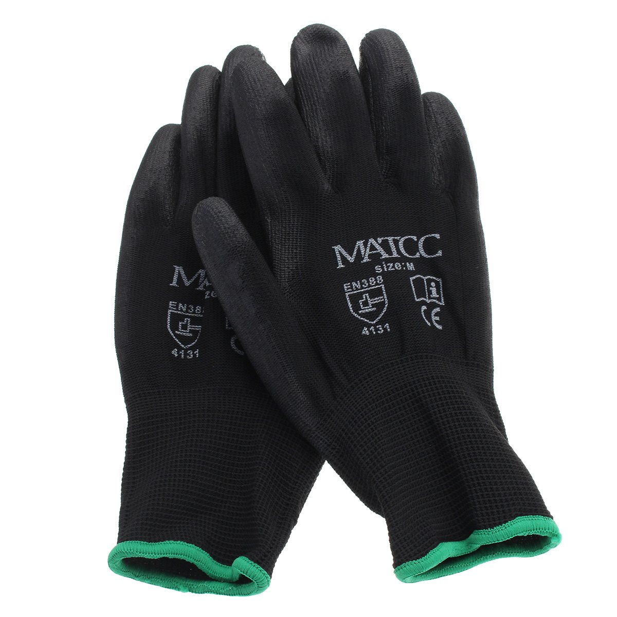 цены Safurance 12Pairs PU Nitrile Coated Safety Work Gloves Garden Builders Grip Size M/L/XL Workplace Safety