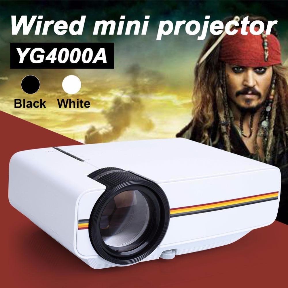 YG400 up YG400A Mini Proyector Con Cable de Sincronización de Pantalla Más estab
