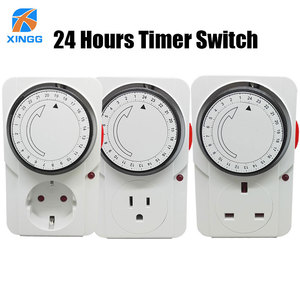 Image 1 - EU/US/UK Plug Electronic Mechanical Timer Socket Energy Saving 24 Hours intelligent home Protector Certification by CE ROHS GS