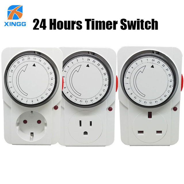 EU/US/UK Plug Electronic Mechanical Timer Socket Energy Saving 24 Hours intelligent home Protector Certification by CE ROHS GS