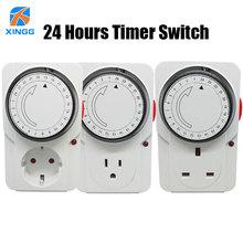 Enchufe mecánico electrónico con temporizador, ahorro de energía, 24 horas, Protector inteligente para el hogar, certificación CE ROHS GS