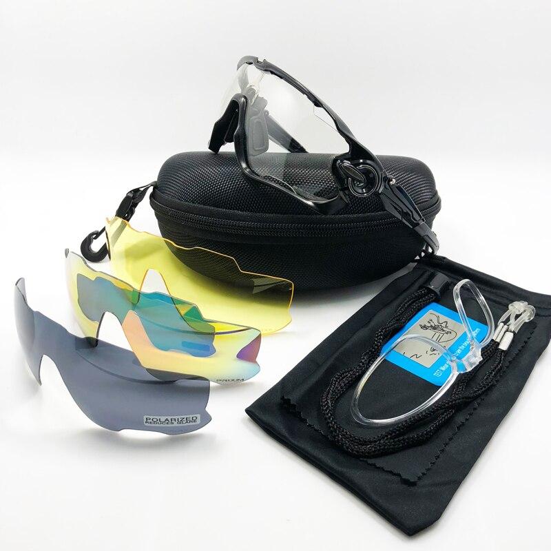4 Objectif Mâchoire Disjoncteur En Plein Air Sports Cyclisme Lunettes  Polarisées Photochromiques Hommes Cyclisme Lunettes lunettes de Soleil avec  Myopie ... 7a691d70f0c7