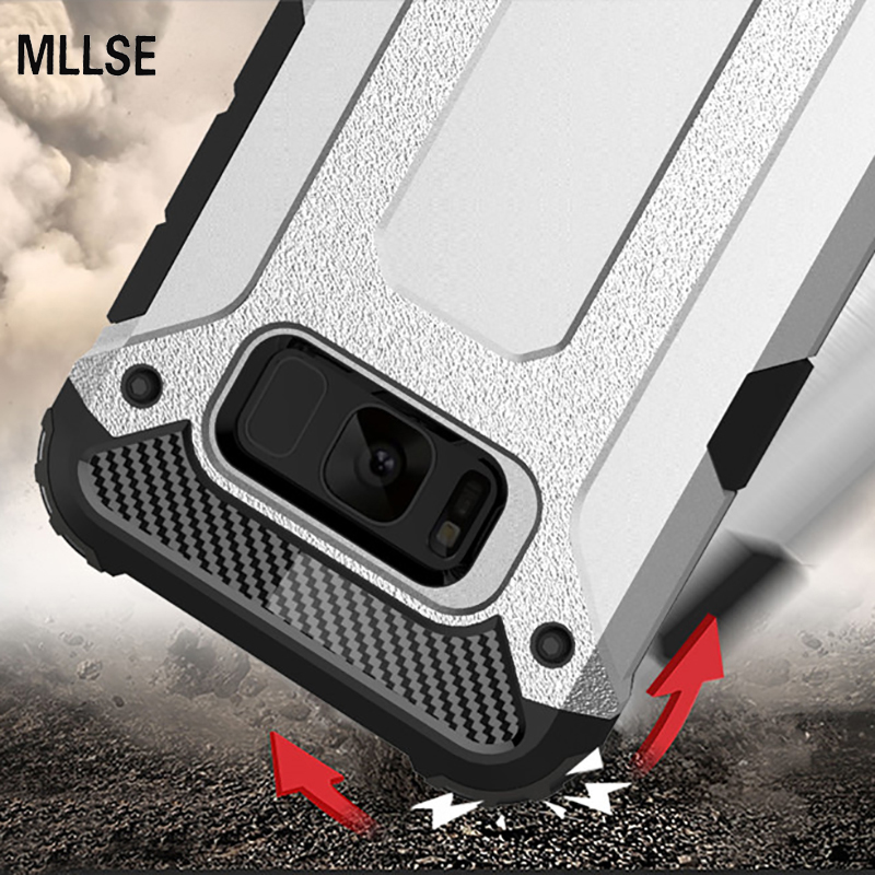 MLLSE Strong Hybrid Tough Shockproof Armor <font><b>Phone</b></font> Back <font><b>Case</b></font> For SAMSUNG S8 Plus S7 S6 Edge+ A3 A5 A7 2016 2017 Hard Rugged Cover