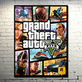 POPIGIST-Grand Theft Auto V Video Game GTA 5 Tecido De Seda Arte cartaz Impressão 13x18 32x43 polegadas Parede Pictures Para Sala de estar 007