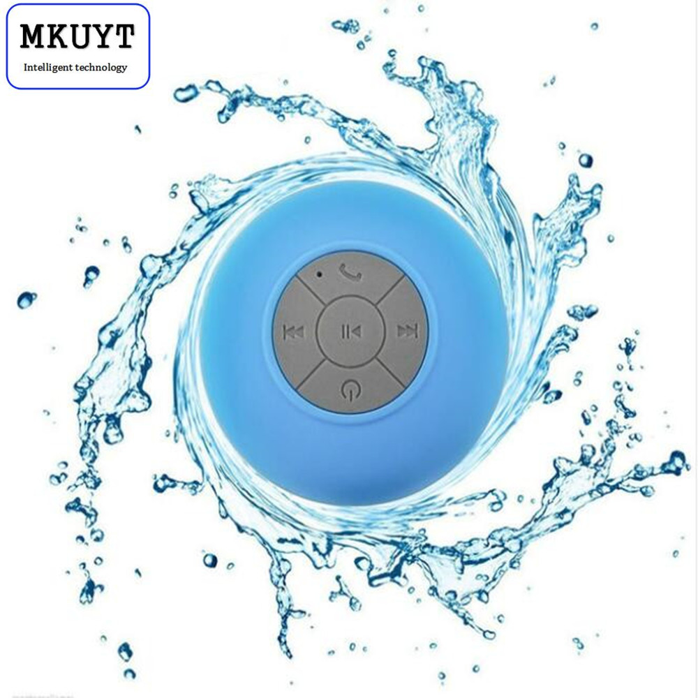 MKUYT Portable Waterproof Wireless Mini Bluetooth Speaker Music Sound Water Car Speakers Resistant Bathroom Shower Bar