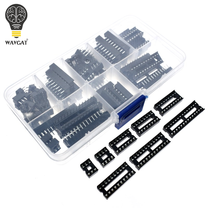 66 teile/los <font><b>DIP</b></font> IC Steckdosen Adapter Solder Typ Sockel Kit 6 8 14 <font><b>16</b></font> 18 20 24 28 40 Pin <font><b>DIP</b></font>-8 <font><b>16</b></font>-Pins DIP8 DIP16 IC Stecker image