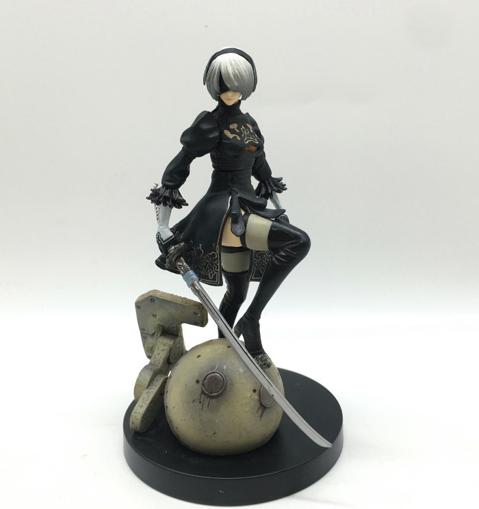 14cm NieR Automata 2B YoRHa No 2 Type B PVC Figure Collectible Model Toy in Action Toy Figures from Toys Hobbies