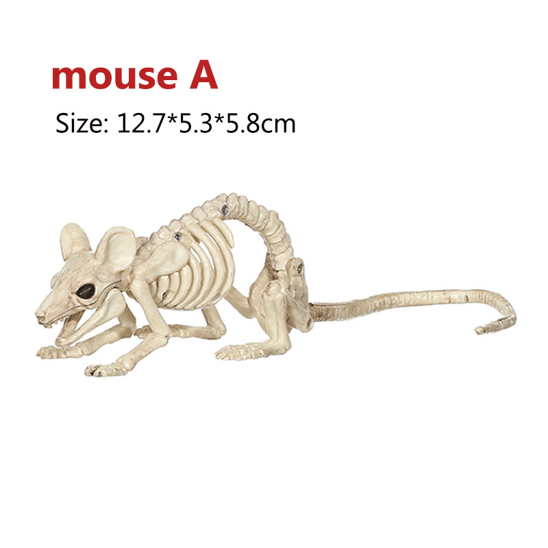 Halloween Decoration Bone Props Animals Skeleton Ornaments Bat Spider Dragon Bird Bones Hallowmas Horror House Party Decoration (96)