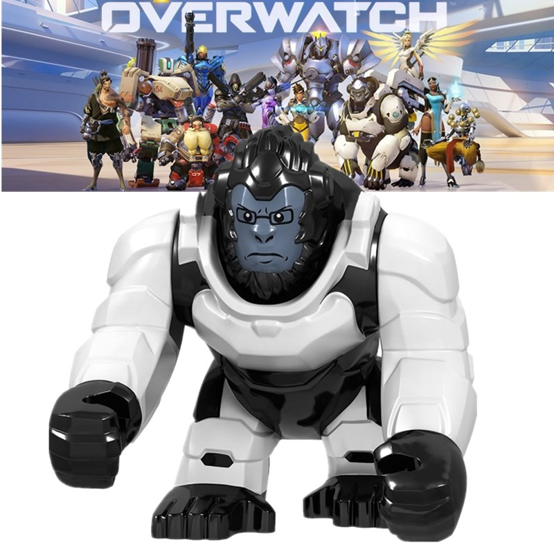 Overwatching Building Blocks Legoed OWN Minifigured Winston D.Va Jesse.Mccree Reaper Soldier 76 Shimada Hanzo Children Toys