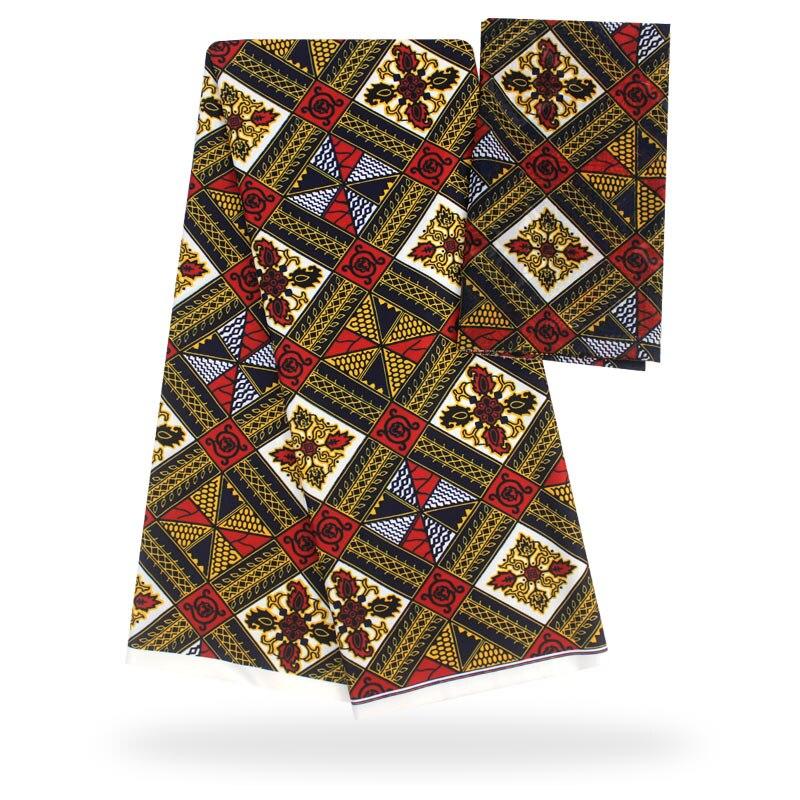YBG! haute qualité africain cire impression tissu marque Stretch Satin soie tissu tissu soie offre spéciale en gros 4 + 2 yards/lot! L61892 - 6