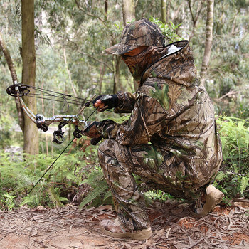 Bionic Camouflage Clothes Tactical Sniper Ghillie Suits Cotton Camo Hunting Clothing Anti-Mosquito Spring Autumn Fishing 5