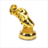 Large golden shoes European Golden Boot Award Football souvenirs soccer trophy World Cup wood Resin