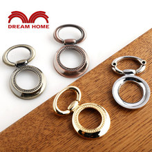 10 Pcs Antique vintage ring handle drawer Chinese style American small antique hand-pulling variety, yellow red