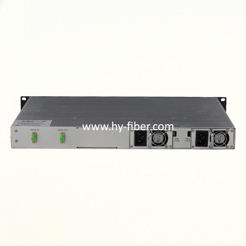 CATV 1550nm Optical Amplifier EDFA 17dBm FC APC Fiber Port Dual Power Supply 220V or 48V