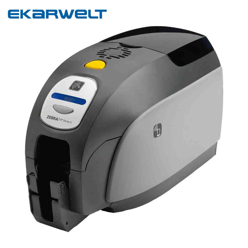 Zebra ZXP Series 3 CN Dual-sided PVC ID Card Printer,zxp3 Double Sided Printer With Two 800033-340CN Ymcko Color Ribbons