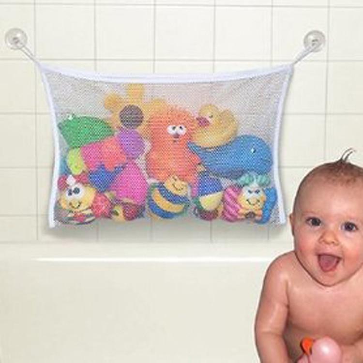 Kids Baby Bath Tub Toy Tidy Storage Suction Cup Bag Mesh Bathroom ...
