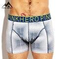 Pink Hero New Cotton Dot Print Men's Boxer Shorts Sexy Strech Soft Waistband Men's Underwear P1255 4pcs/lot Dropshipping