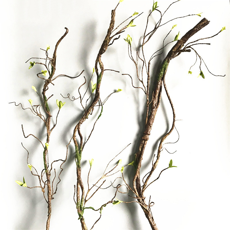 90cm Real Touch Fake Tree Branches Rattan Artificial Flower Vine For Home Hotel Garden DIY Decoration Wreath Scrapbooking Floral