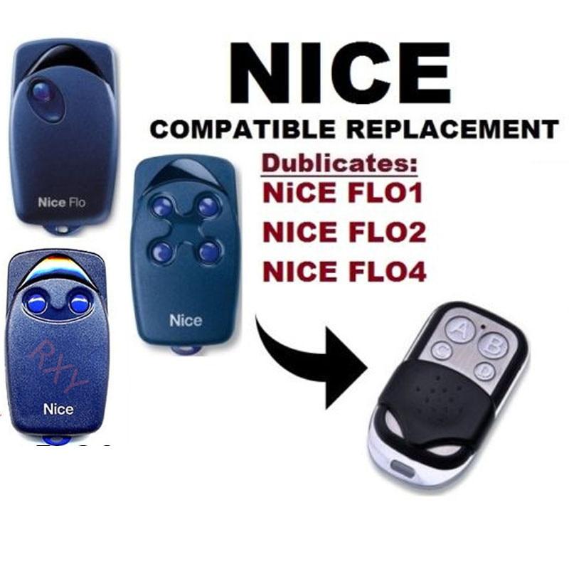 NICE FLO1, FLO2, FLO4 Garage Door/Gate Remote Control Replacement/Duplicator nice flo2r s replacement garage door opener remote control