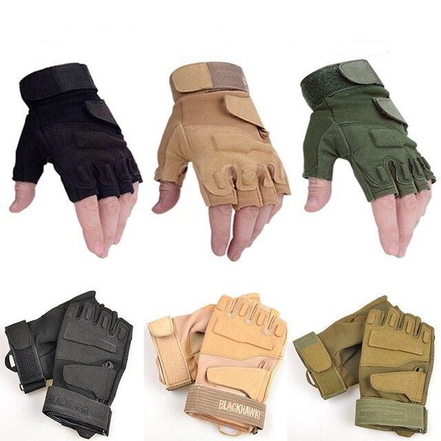 Heißer verkauf Halbe Fingerhandschuhe Militärische Taktische Airsoft ...