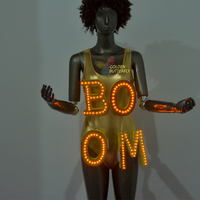 Luminous Letter props customized LED Clothing Fashion Luminous Suits Glowing Talent show Costumes Catwalk Bar costume props