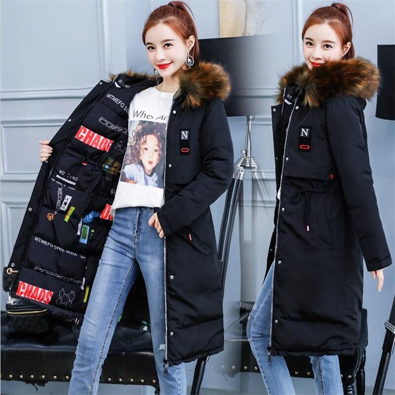 Outwear Parkas Grande Manteaux Long Imprimé Rouge Way Col Floral Noir Solide Taille Femmes De Manteau Coton 3xl Casual D'hiver rouge 2018 Fourrure corail M ardoisé Two Porter PZOkuXTi