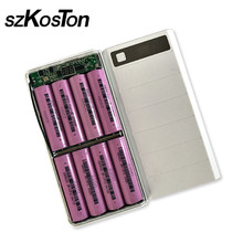 Bricolage 8x18650 chargeur de batterie boîte de batterie externe coque en plastique type de boîtier C Micro Double Port USB affichage Powerbank boîte sans batterie