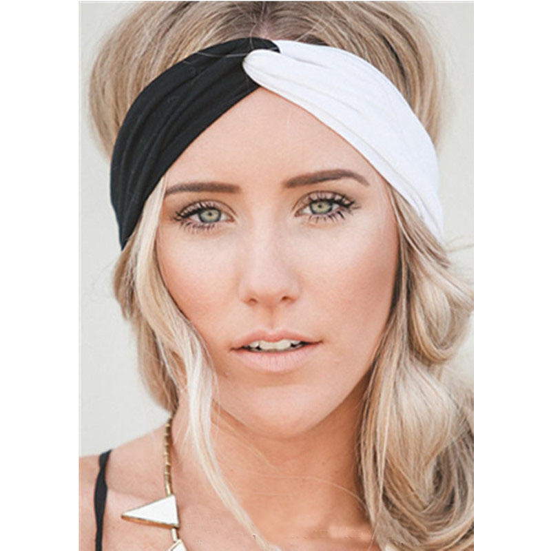 Apparel Accessories Girl's Hair Accessories Women Plain Knitted Cross Headband Turban Girls Fashion Twisted Two Layers Elastic Fabric Hairband Hair Accessories Headwrap Large Assortment