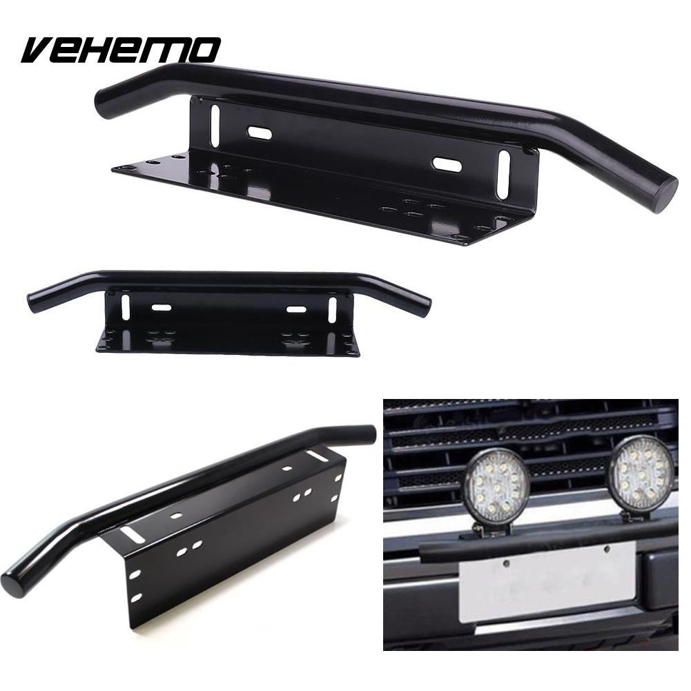 License Plate Holder Front Bumer Bracket Adjustable Mount Bracket Offroad Vehicle Car Black Aluminum Alloy New
