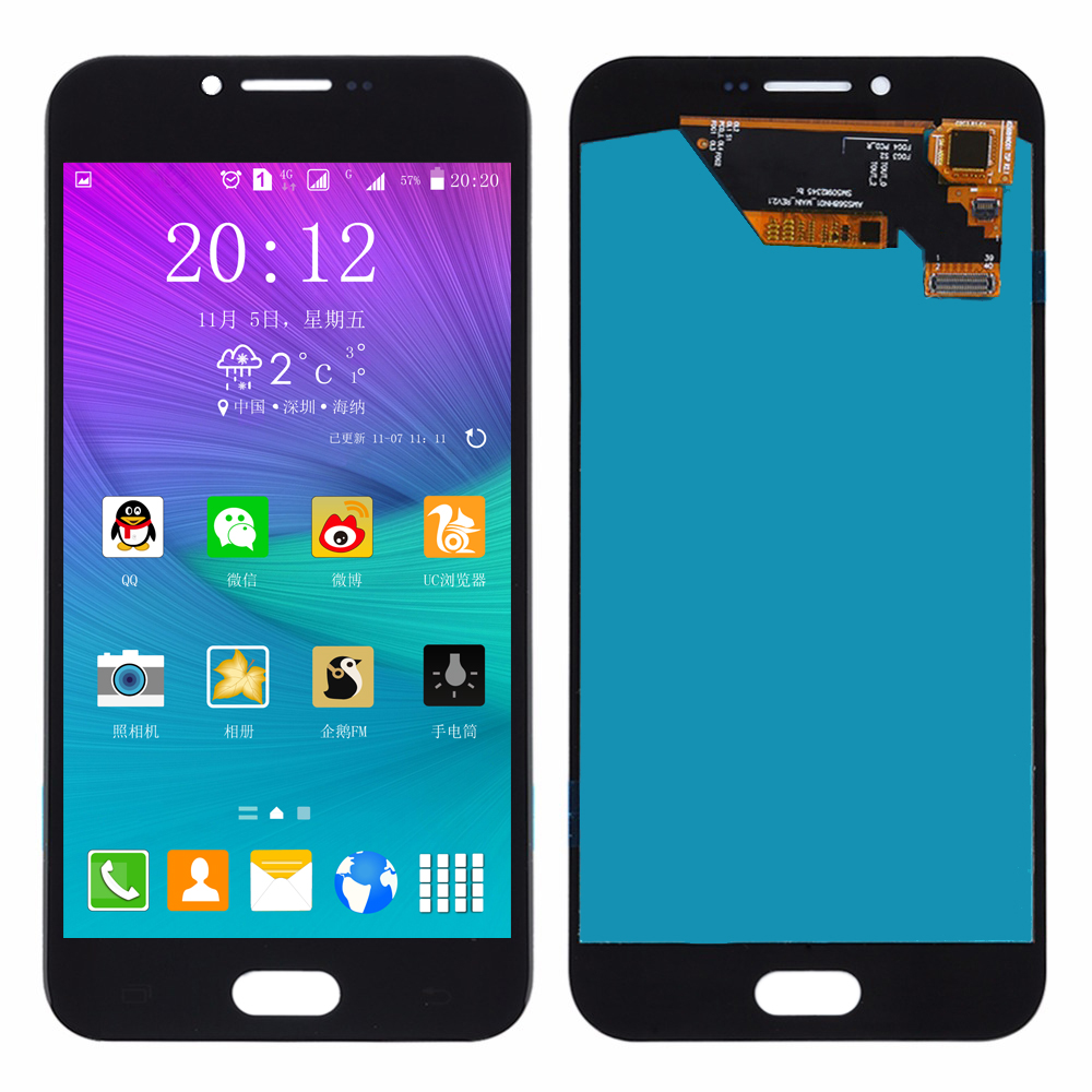 A8 2016 AMOLED Display For Samsung Galaxy A8 2016 LCD A810F Display w/ Touch Screen Digitizer SM-A810F/DS Display A810 A8100 LCD image