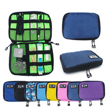 Portable Cable Storage Bag Travel Digital Electronic Accessories Organizer USB Charger Power Bank Holder Case
