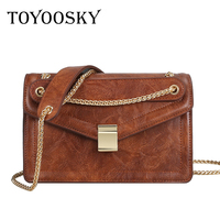 TOYOOSKY Fashion Women Flap Bags Famous Brand Ladies Leather Handbags Newest Designer Chain Shoulder Bags Bolsa