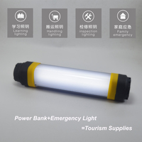 Portable IP68 5V 1A 4W 7Modes Dimmable Power Bank Rechargeable Emergency SOS Flashling Magnetic Multifunction LED
